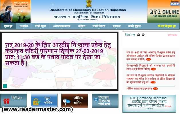 Rajasthan RTE Admission Details In Hindi
