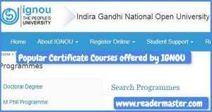 Popular-Certificate-Courses-offered-by-IGNOU
