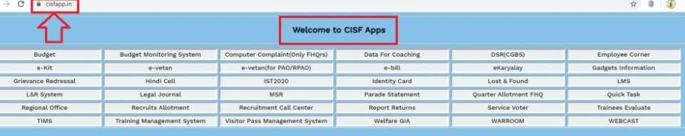CISF Employe Salary Slip Download and Print